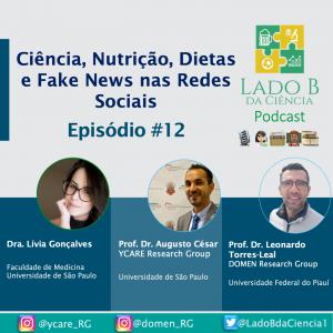 Episódio #12 – Ciência, Nutrição, Dietas e Fake News nas redes Sociais - c/ Dra. Lívia Gonçalves